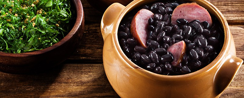 Typical food of Brazil, made ??with black beans and pork.